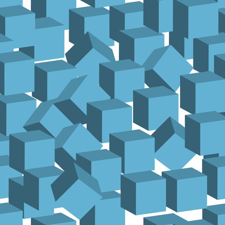 rapport: seamles cube pattern, vector eps 10