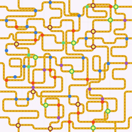 nodes: public transport or tube map  fictional , seamless pattern, vector