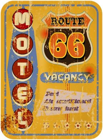 retro route 66 Motel sign,vacation,  vector