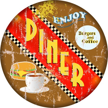 retro diner sign Vector