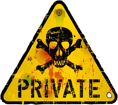 private sign, warning   prohibition sign, vector Illustration