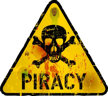 Computer virus, piracy,phishing warning sign,vector Vector