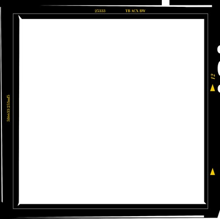 formats: medium format negative photo frame, free copy space, isolated, vector illustration Illustration