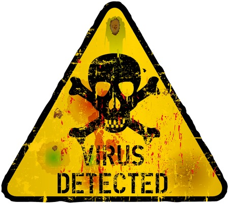 virus alert: Computer virus, piracy,phishing warning sign,vector Illustration