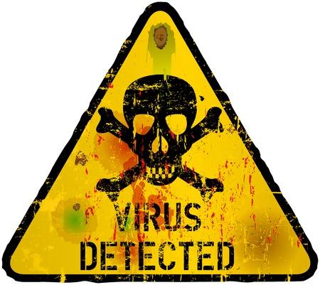 virus informatico: Virus inform�ticos, la pirater�a, se�al de advertencia de phishing, vector