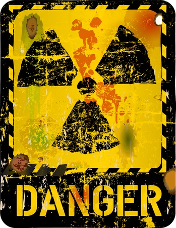 hazardous metals: Radiation warning, vector illustration