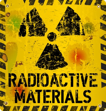 radioactive material warning, vector illustration Vector