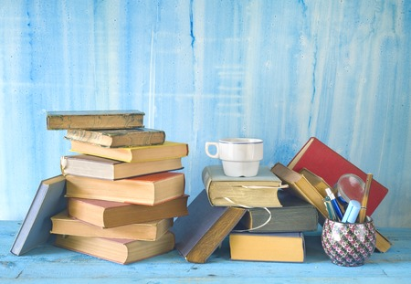 vintage books, reading,learning, literature concept, free copy space photo