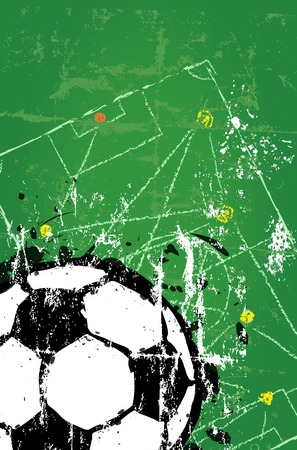 pilsener: Soccer   Football design template, free copy space, vector