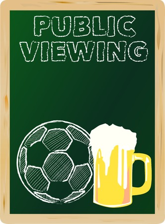 soccer public viewing, free copy space, vector illustration Vector