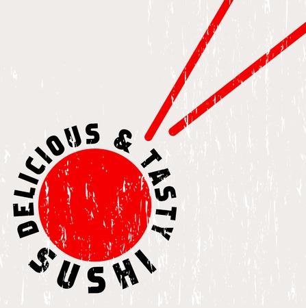 sushi restaurant menu template, free copy space, vector