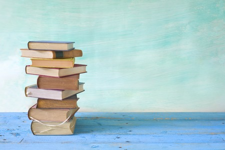 stack of books, free copy space Stockfoto