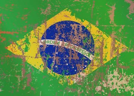 oldened: brazil flag, soccer football illustration