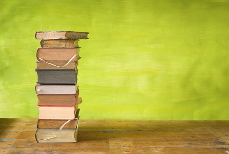 stack of books free copy space