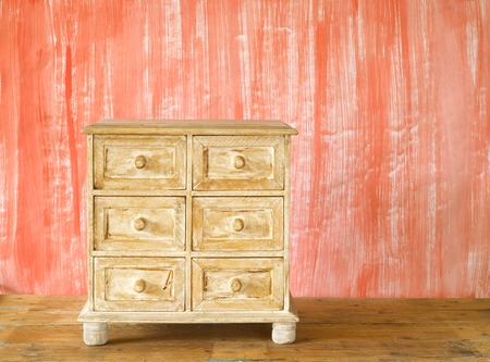 highboy: small furniture, chest of drawers, shabby chic, free copy space