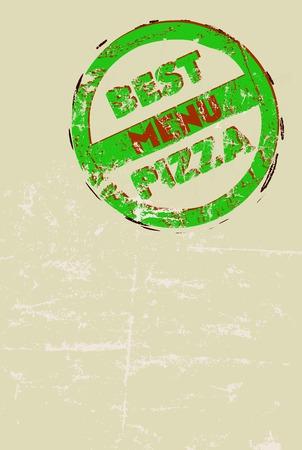 deign: pizza menu template, free copy space, vector