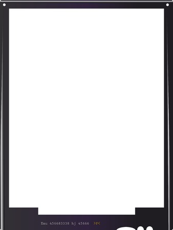 format: empty large format negative picture frame,with free copy space, isolated on white background,