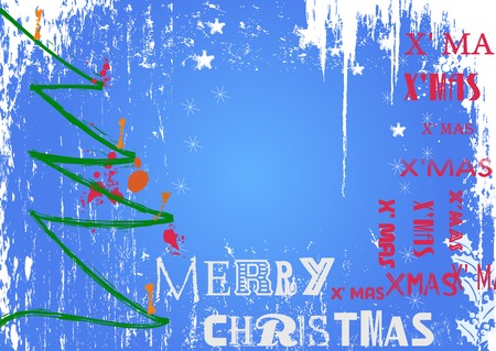 christmas design, free copy space, vector illustration Vector