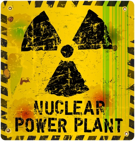 nuclear plant: nuclear power plant sign, vector illustration