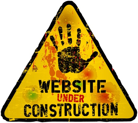 vector sign under construction: website under construction sign, grungy,vector