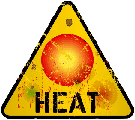 torridity: heat warning sign