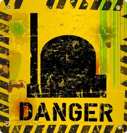 poison arrow: Radiation warning, nuclear power plant, vector illustration