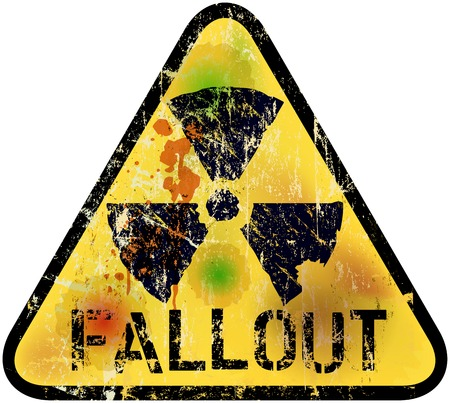 nuclear waste: nuclear fallout warning sign, vector illustration