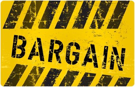 price cut: segno affare, indossati e grungy