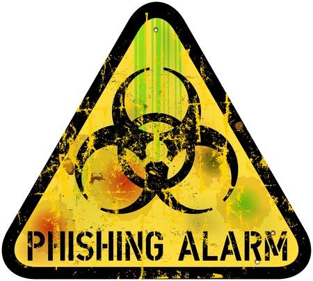 phishing alert sign Vector