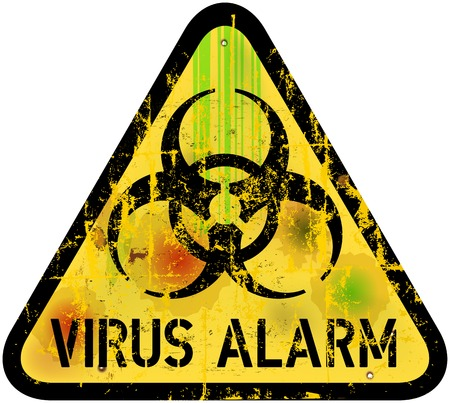 detected: computer virus alert sign Illustration