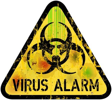 computer virus alert sign Illustration