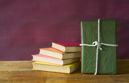 gift packs: book as a gift,christmas present, free copy space