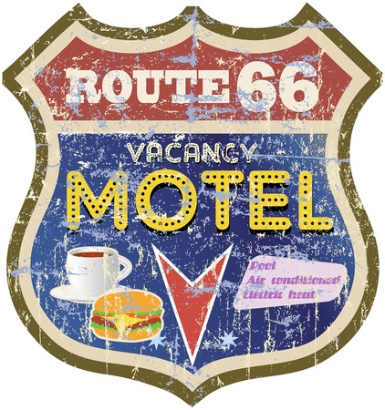 chamber: retro route 66 Motel sign