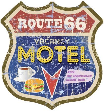 66: retro route 66 Motel sign