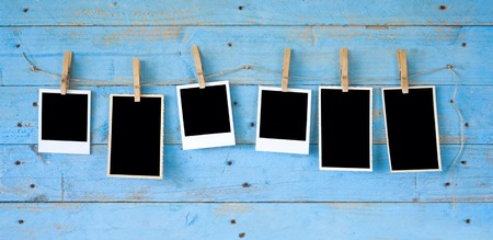 foto: photo frames, free space for your pics or copy Stock Photo