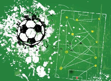 soccer background: grungy soccer football, illustration vector format