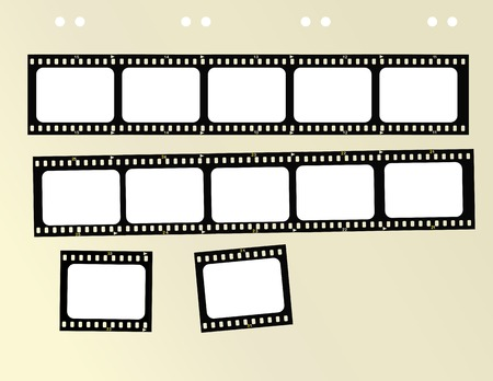 35mm format filmstrip,free copy space Vector