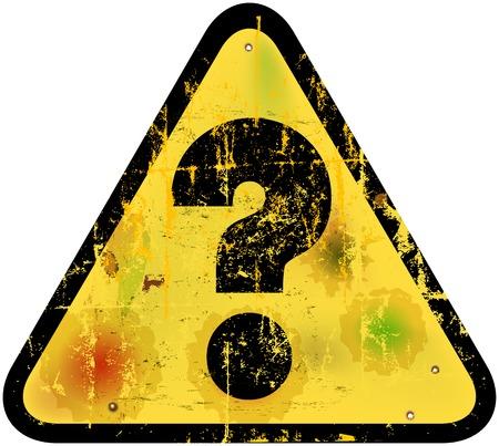 Danger warning sign w. question mark, vector illustration Vector
