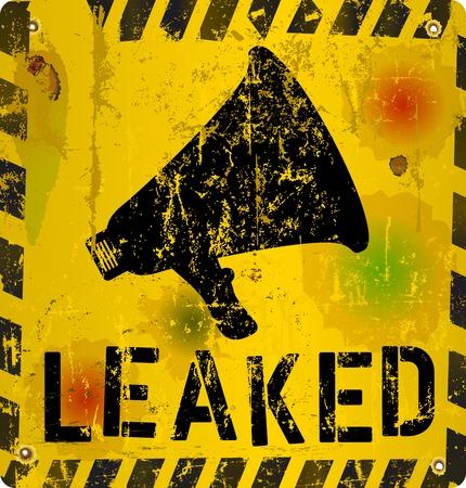 worn sign: leak sign, worn and grungy, vector illustration Illustration