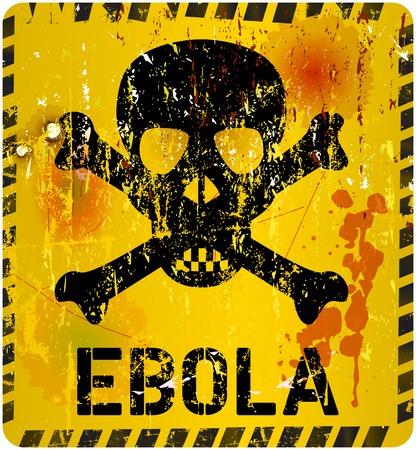virus alert: ebola virus alert grungy sign