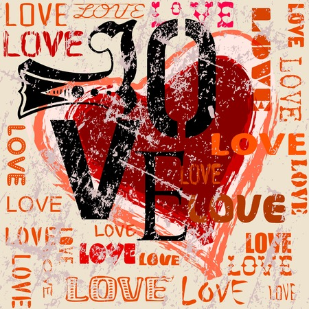 heart and love illustration Vector