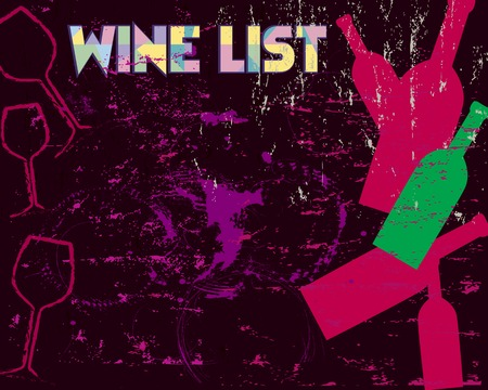 Wine List Design, free copy space Vector