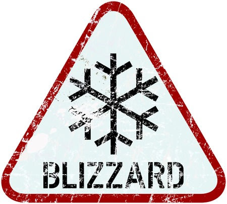 blizzard: blizzard warning traffic sign, vector illustration Illustration