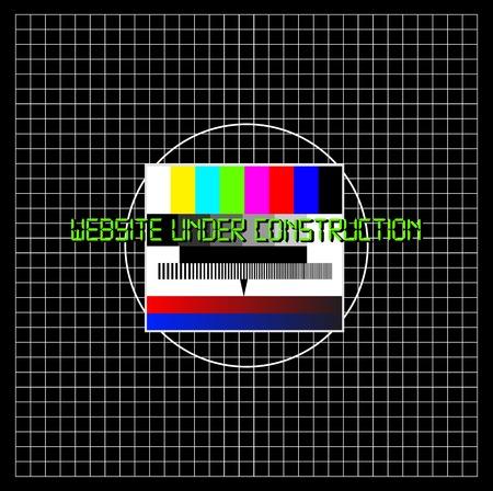 recondition: Website under construction, test pattern, vector Illustration
