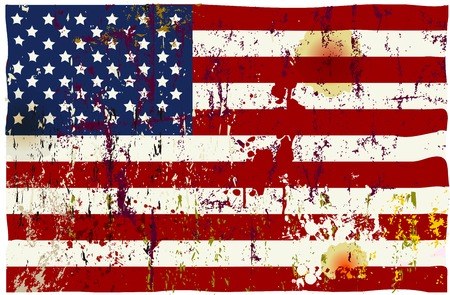 grungy vector american flag Stock Illustratie