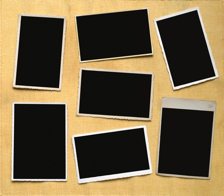 Vintage photographic deckle edged picture frames, free copy space Stock Photo
