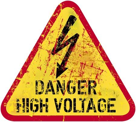 choc �lectrique: choc �lectrique, panneau d'avertissement d'�lectrocution Illustration
