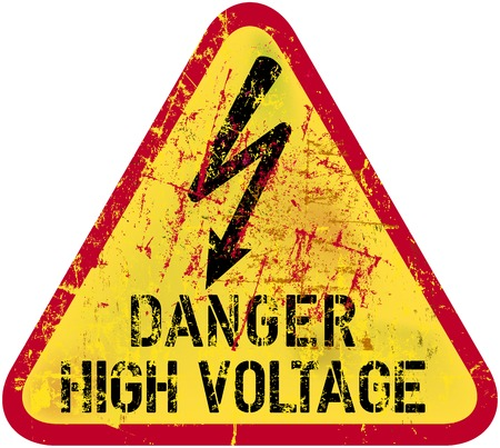 electrocution: electric shock, electrocution warning sign
