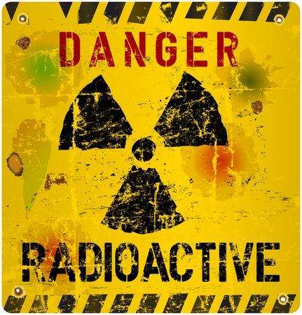 dangerous: Radiation warning, vector illustration