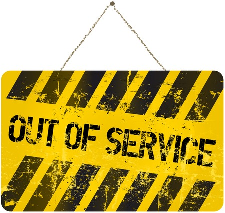out of order: out of service sign, vector illustration Illustration